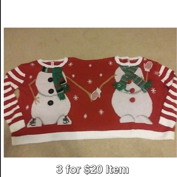 Sweaters Holiday Time 2 Person Christmas Sweater Snowmen Poshmark